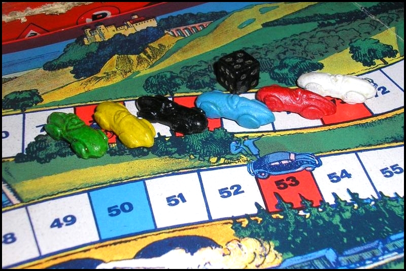 Brettspiel ; Board game ; Jeu de société ; 1930/35 - Auto Reise Spiel