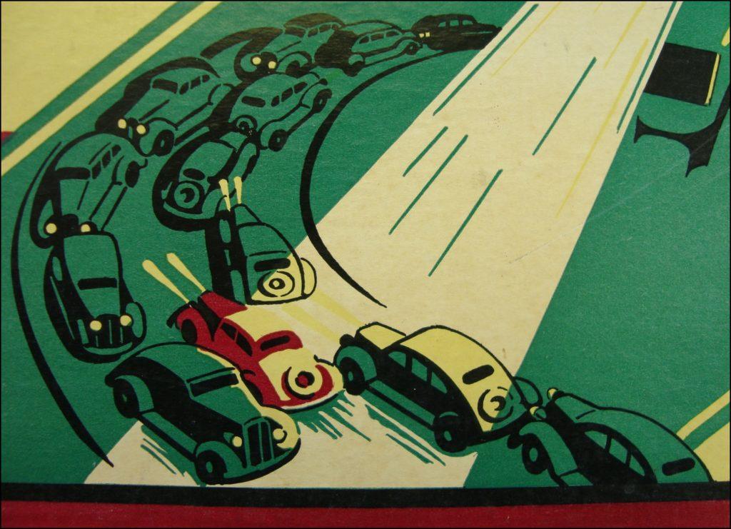 Brettspiel ; Board game ; Jeu de société ; Parker brothers ; 1936 ;  Highway Patrol ; Harley Davidson ;