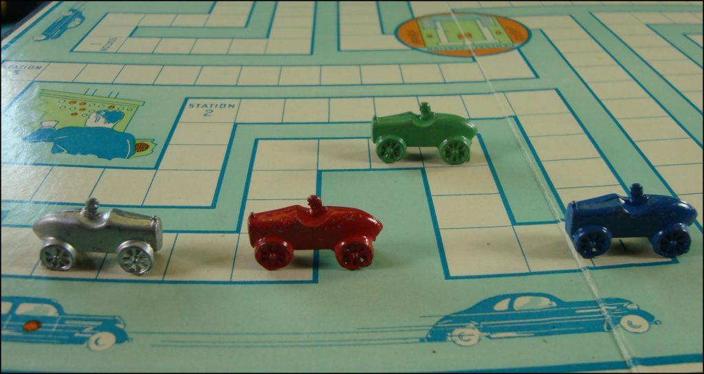 Parker brothers ; 1938 ; Calling all cars ; vintage car-themed board game ; ancien jeu de société automobile ; Antikes Brettspiel Thema Automobil Autospiel ;