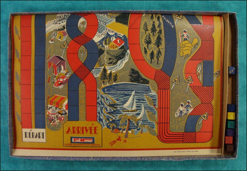 Brettspiel ; Board game ; Jeu de société ; 1940/50 ; Jeu des croisements ; Jeu Nouvo ;