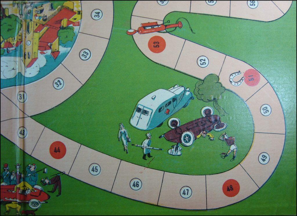 1943 ; Le Rallye ; éd. Cousin Poum ; vintage car-themed board game ; ancien jeu de société automobile ; Antikes Brettspiel Thema Automobil Autospiel ;