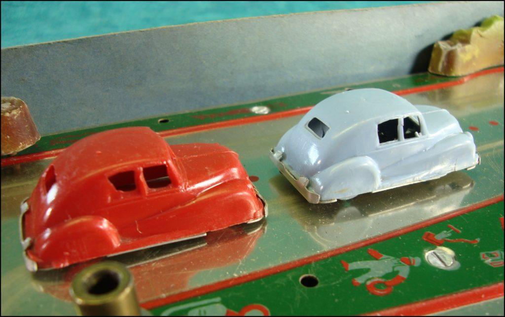 1945/50 ; La Route Enchantée ; circuit autos mécaniques ; vintage car-themed board game ; ancien jeu de société automobile ; Antikes Brettspiel Thema Automobil Autospiel ;