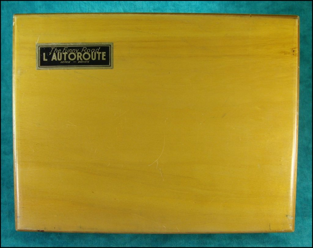 1949 ; L'autoroute ; Dujardin ; vintage car-themed board game ; ancien jeu de société automobile ; Antikes Brettspiel Thema Automobil Autospiel ;