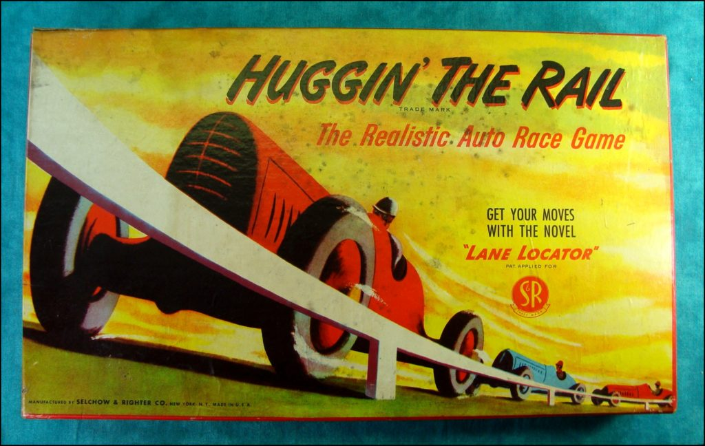 Brettspiel ; Board game ; Jeu de société ; Selchow & Righter ; 1948 ; Hugging the rail ;
