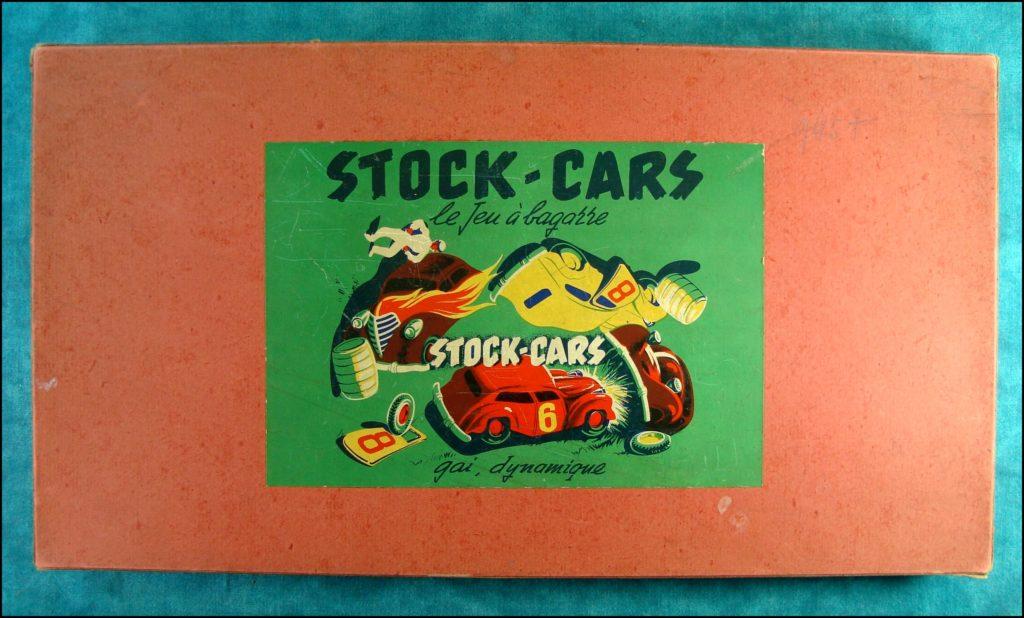 1950/55 ; Stock-cars ; Dujardin ; Le jeu à bagarre ; vintage car-themed board game ; ancien jeu de société automobile ; Antikes Brettspiel Thema Automobil Autospiel ;