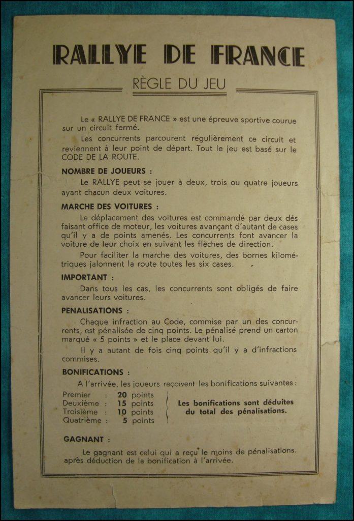1950/55 - Rallye de France ; Alban Taboulet ; Marcheseul ; Ford Vedette ; Le code de la route en s'amusant ; Avia ; vintage car-themed board game ; ancien jeu de société automobile ; Antikes Brettspiel Thema Automobil Autospiel ;