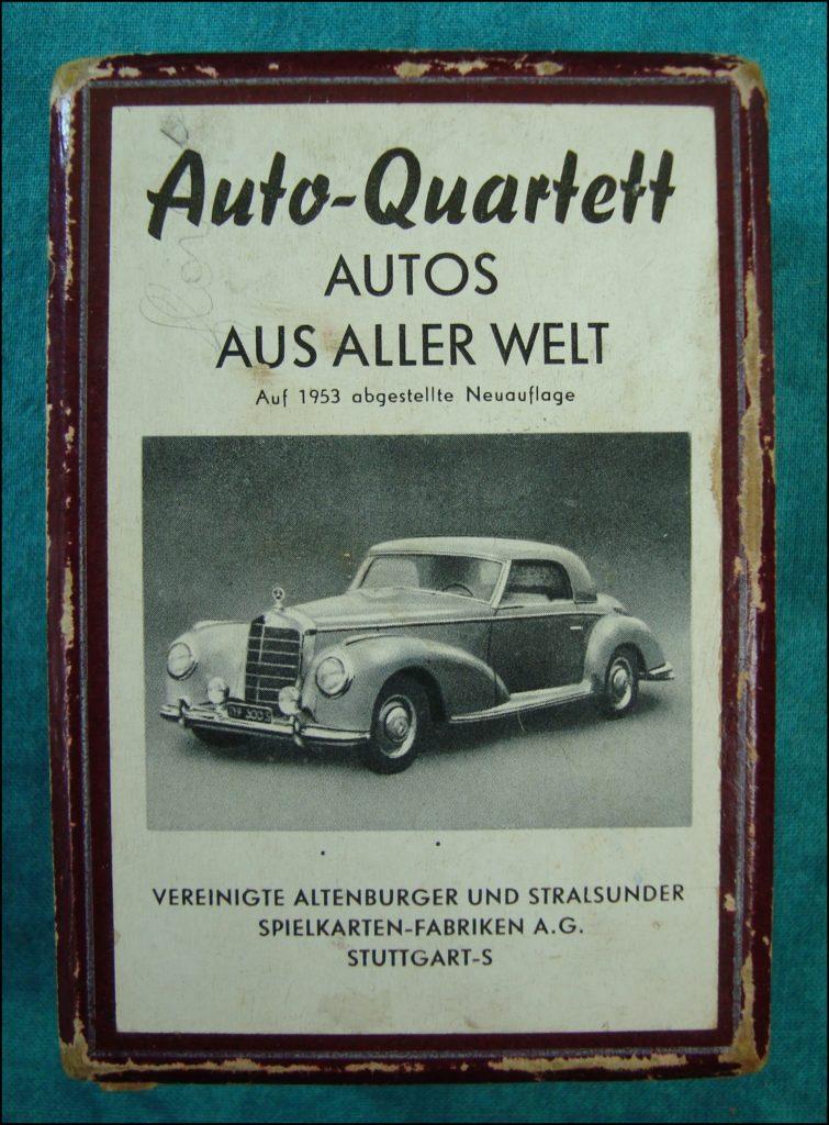 Brettspiel ; Board game ; Jeu de société ; 1953 - Auto-Quartett ;