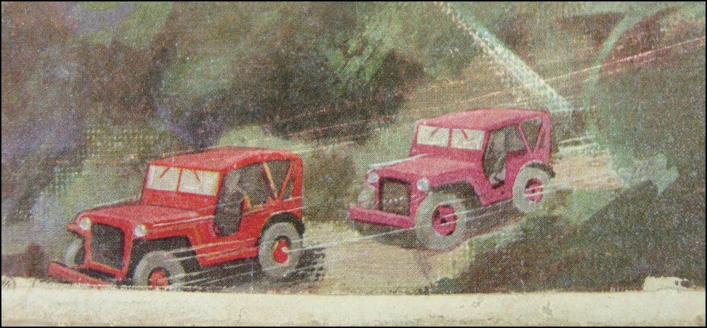 1953 - Les convois ; Miro Company ; Jeep ; vintage car-themed board game ; ancien jeu de société automobile ; Antikes Brettspiel Thema Automobil Autospiel ;