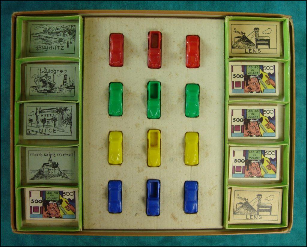 1954 - Les As du volant ; Le jeu de la route ; Alban Taboulet ; Marcheseul ; vintage car-themed board game ; ancien jeu de société automobile ; Antikes Brettspiel Thema Automobil Autospiel ;