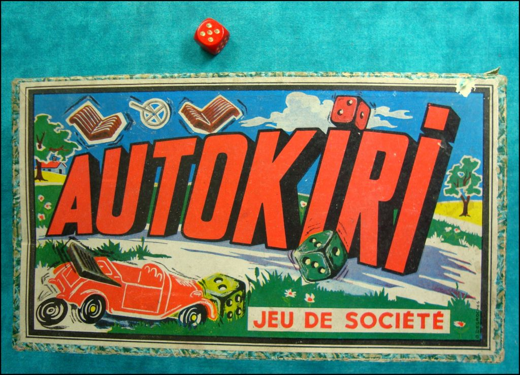 1960 - Autokiri ; PM Lyon ; Brettspiel ; Board game ; Jeu de société ;
