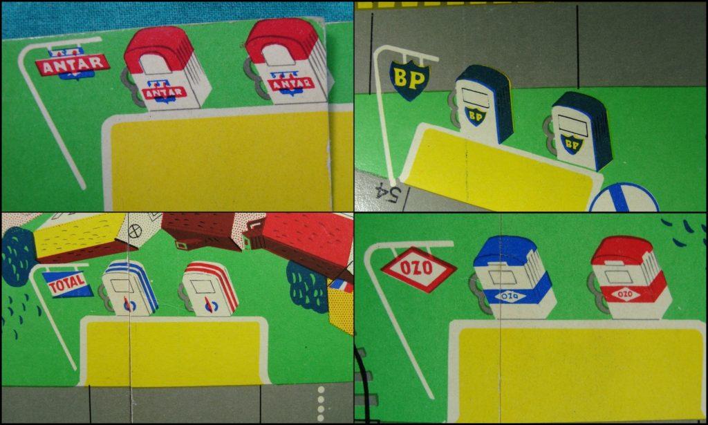 1955/60 ; Routing ; éd. Sud Est publicité ; Antar ; BP ; Total ; Ozo ; Caltex ; Azur ; Mobil ; Esso ; Simca Versailles ; Citroën DS 19 ; Peugeot 203 ; Micro-Miniatures ; Micro Norev ; Charenton Le Pont ; vintage car-themed board game ; ancien jeu de société automobile ; Antikes Brettspiel Thema Automobil Autospiel ;