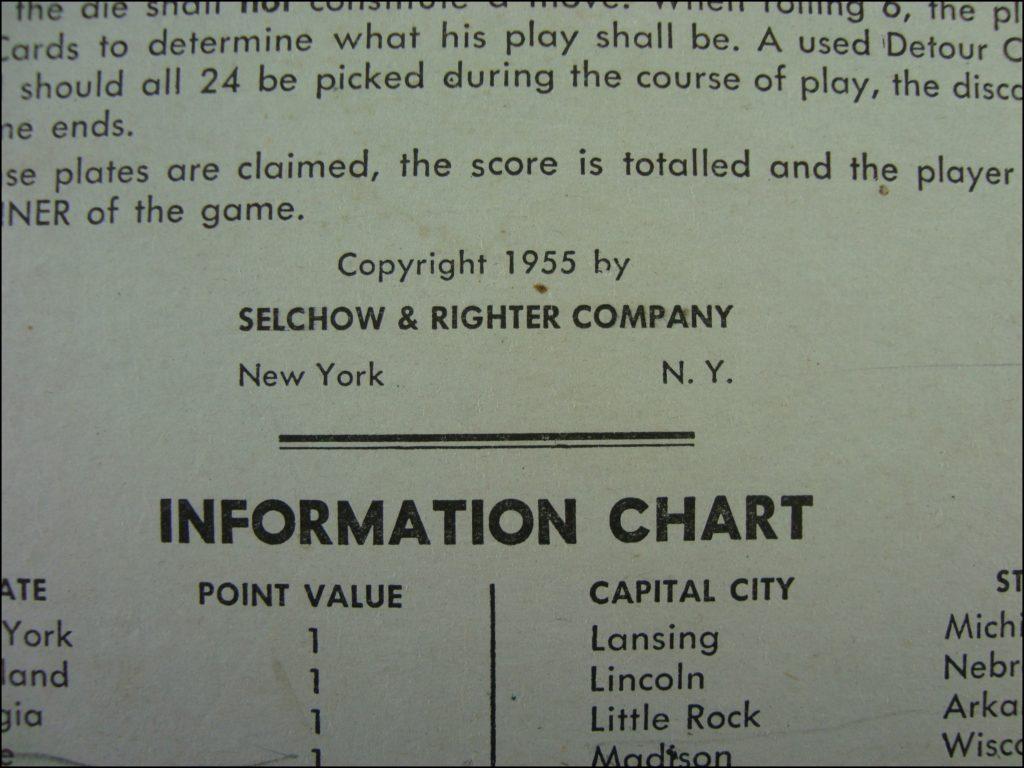 Selchow & Righter ; 1955 ; Get that license ; vintage car-themed board game ; ancien jeu de société automobile ; Antikes Brettspiel Thema Automobil Autospiel ;