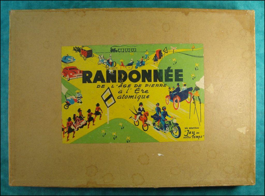 1955 - Randonnée ; Edmond Dujardin Arcachon ;  vintage car-themed board game ; ancien jeu de société automobile ; Antikes Brettspiel Thema Automobil Autospiel ;
