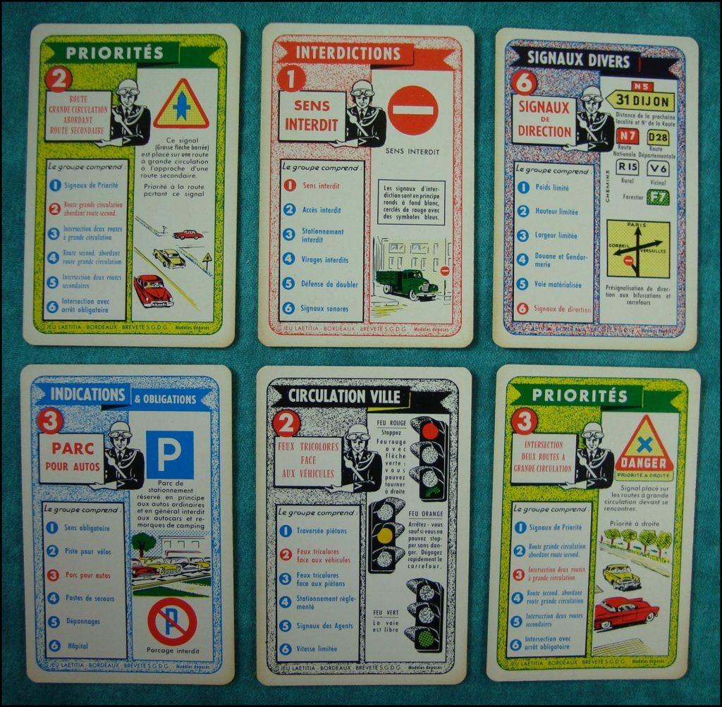 1955/60 - Jeu des Signaux Routiers ; éd. Laetitia, Bordeaux ; Citroën DS ;  vintage car-themed board game ; ancien jeu de société automobile ; Antikes Brettspiel Thema Automobil Autospiel ;