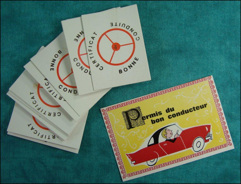 1955/60 ; Prenez le volant ; Papex ; Chrysler New Yorker ; Renault 4 CH ; Renault Frégate ; vintage car-themed board game ; ancien jeu de société automobile ; Antikes Brettspiel Thema Automobil Autospiel ;