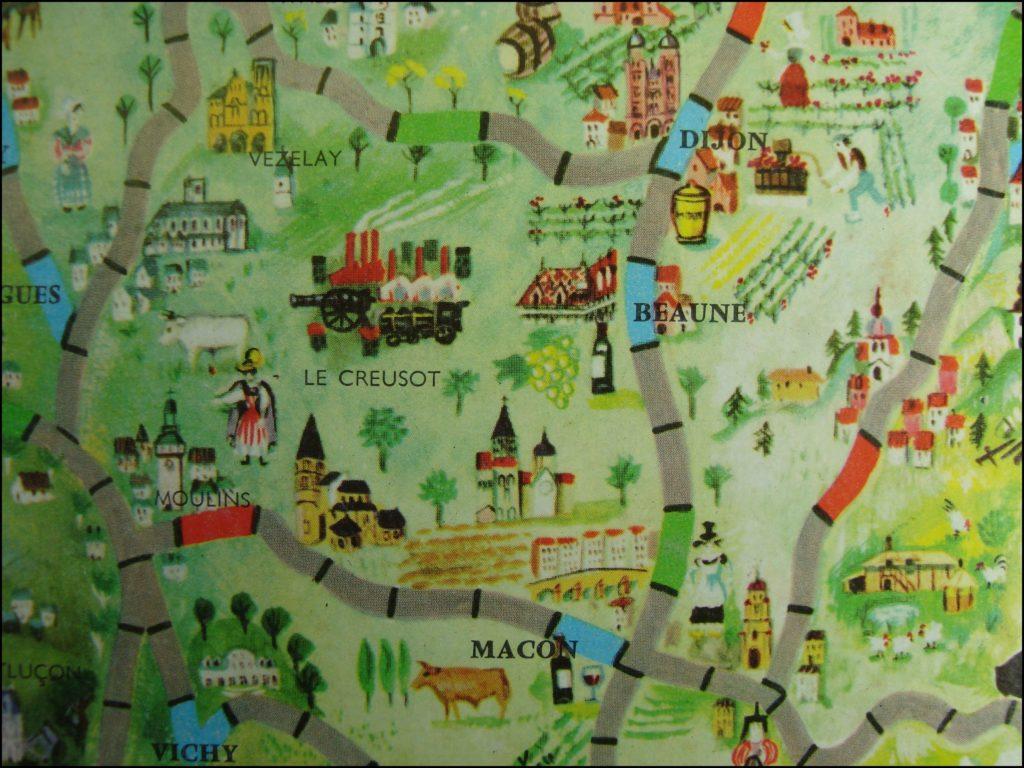 1955/60 - Routes de France ; Roland Dhordain ; Nathan ; vintage car-themed board game ; ancien jeu de société automobile ; Antikes Brettspiel Thema Automobil Autospiel ;