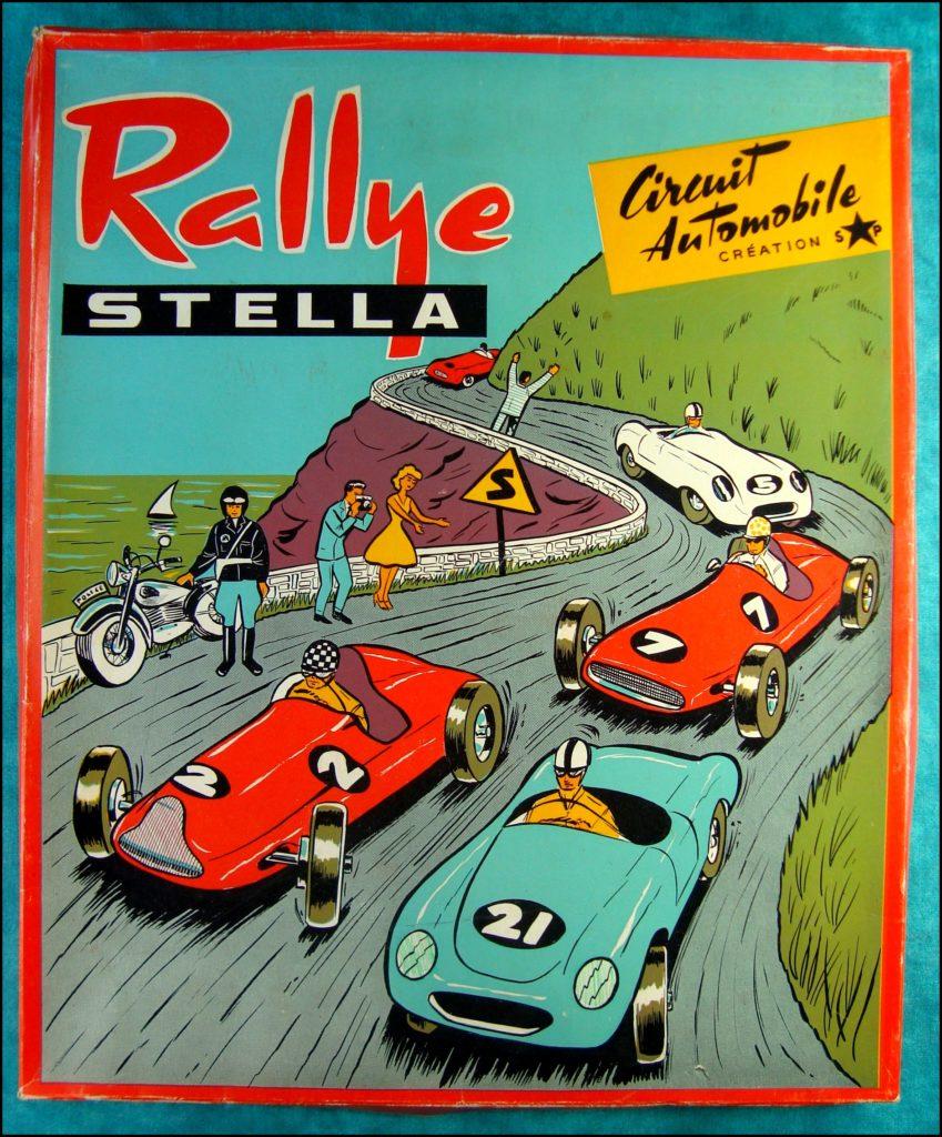 1955/60 ; Rallye Stella ; Créations SP ; vintage car-themed board game ; ancien jeu de société automobile ; Antikes Brettspiel Thema Automobil Autospiel ;