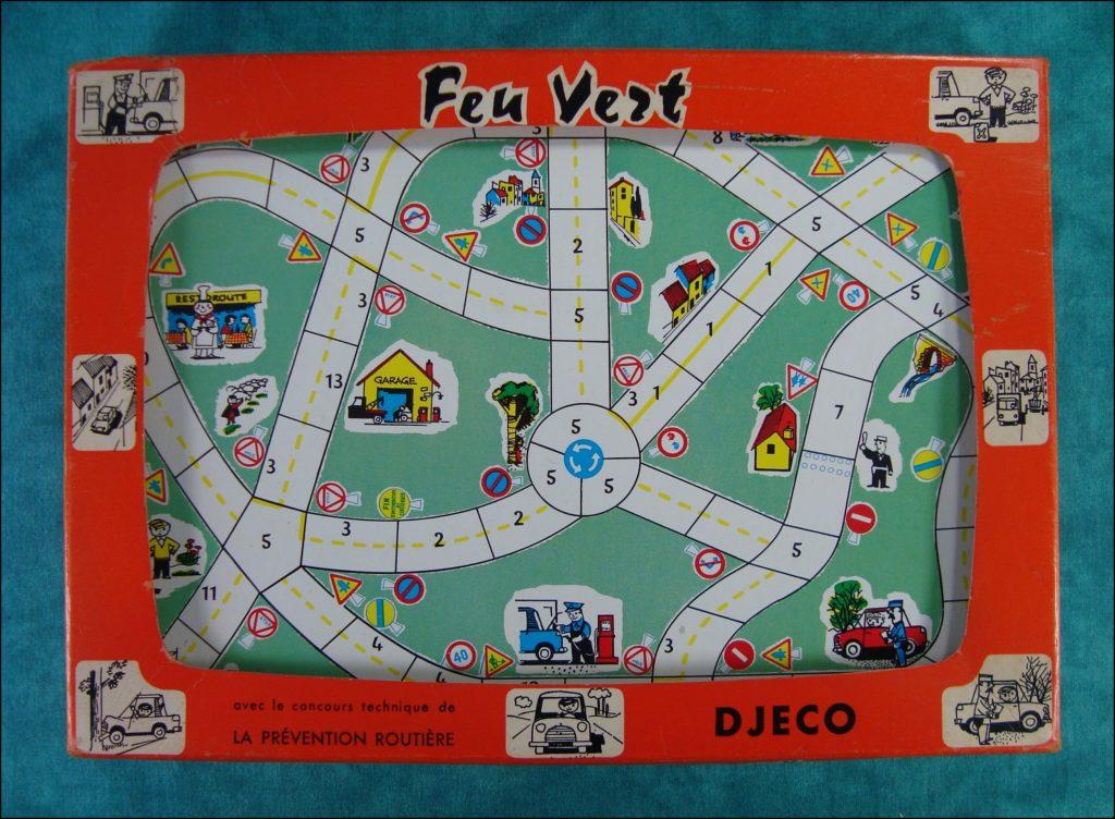 Brettspiel ; Board game ; Jeu de société ; 1955/60 ; Feu Vert ; Djeco ;