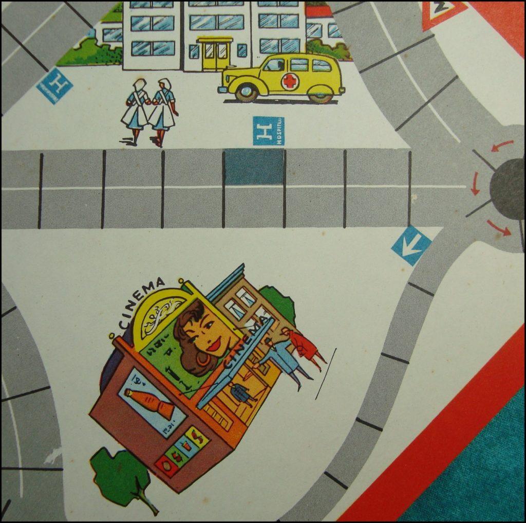 Brettspiel ; Board game ; Jeu de société ; 1955/65 ; Trafico ; Diabolo ; Citroën DS 19 ;