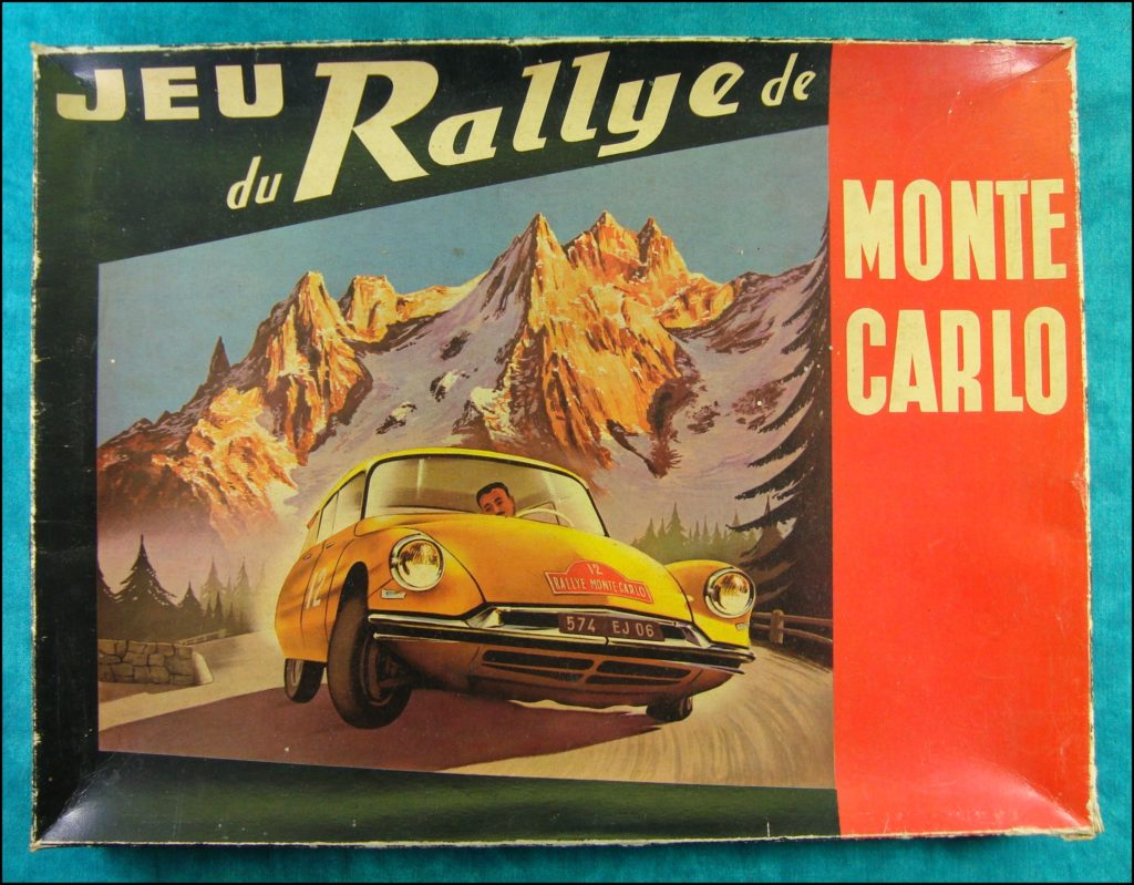 1956 ; Jeu du Rallye de Monte-Carlo ; éd. MJ Production ; Citroën DS