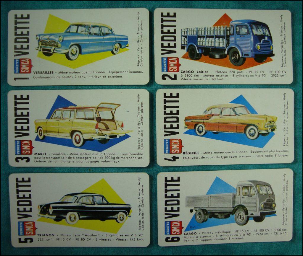 1956 - Le Salon de l'Auto ; Monic ; R. Bottu ; Simca ; Panhard ; Renault ; Citroën ; Peugeot ; Vedette ; Berliet ; vintage car-themed board game ; ancien jeu de société automobile ; Antikes Brettspiel Thema Automobil Autospiel ;