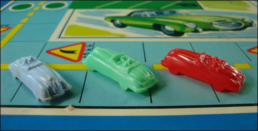 1957/58 ; L'Auto-Code ; Créations Michel ; Talbot lago 1955/58 ; Simca Ariane 1957 ; vintage car-themed board game ; ancien jeu de société automobile ; Antikes Brettspiel Thema Automobil Autospiel ;
