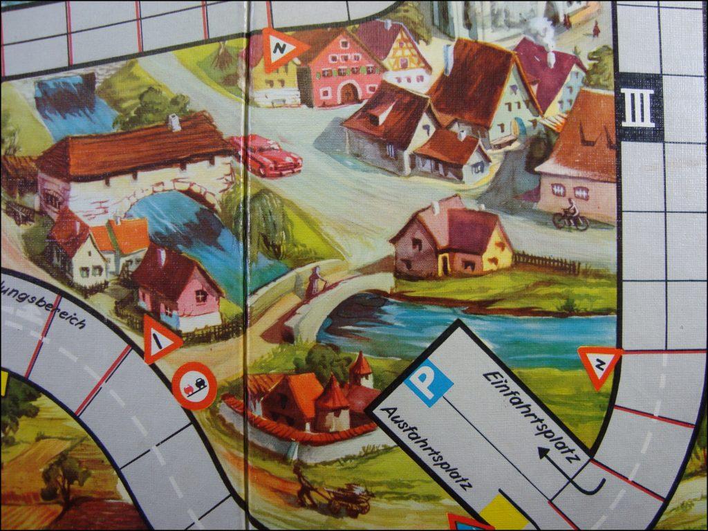 Brettspiel ; Board game ; Jeu de société ; 1957 - Qui a la priorité de passage ? ; Spear Spiel