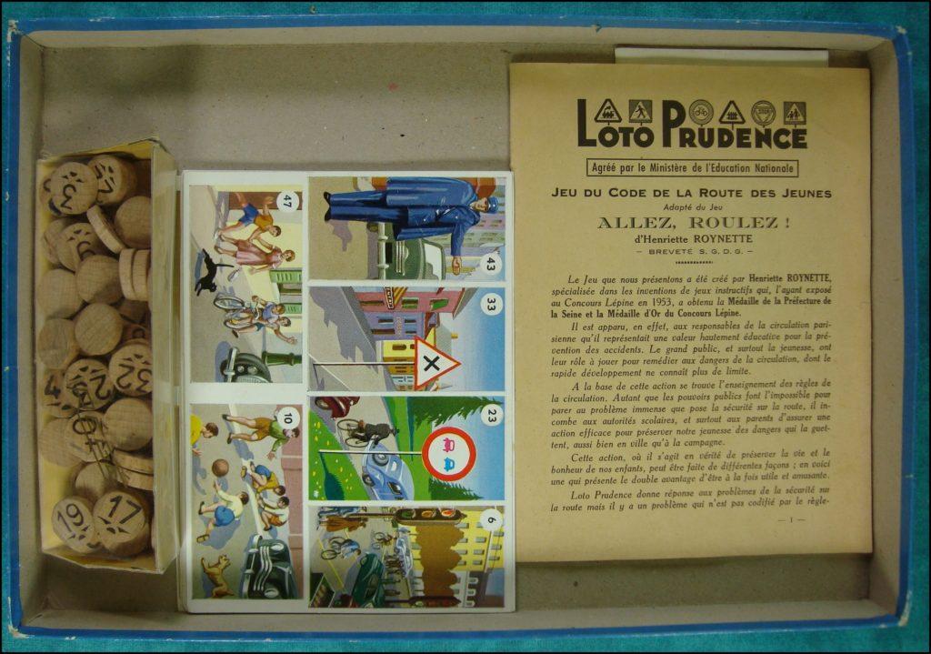 1957 ; Loto Prudence ; éd. Jouets Véra ; Simca Vedette Chambord ; vintage car-themed board game ; ancien jeu de société automobile ; Antikes Brettspiel Thema Automobil Autospiel ;