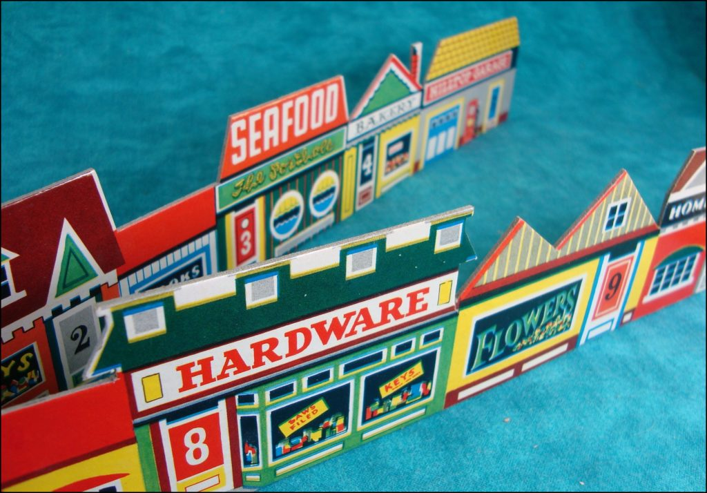 Brettspiel ; Board game ; Jeu de société ; 1958 ;  Police Patrol ; Hassenfeld Brothers ; Hasbro