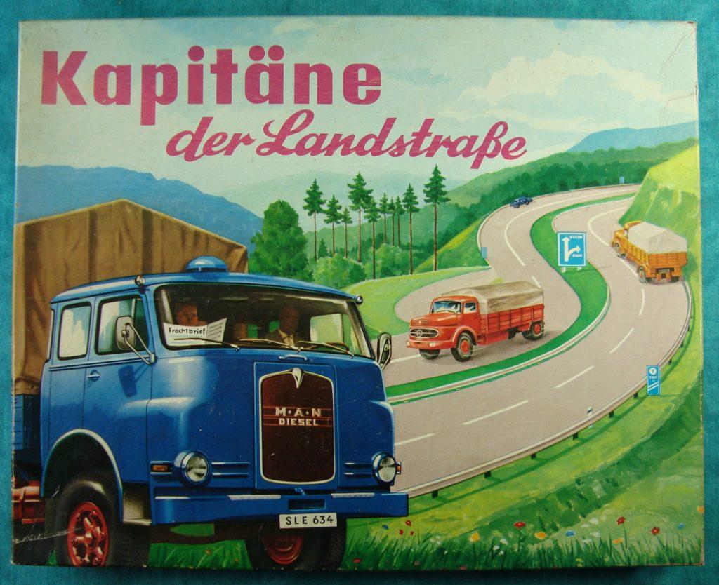 Brettspiel ; Board game ; Jeu de société ; 1963 - Kapitäne der Landstraße ; M.A.N. diesel ; Mercedes L 322 truck