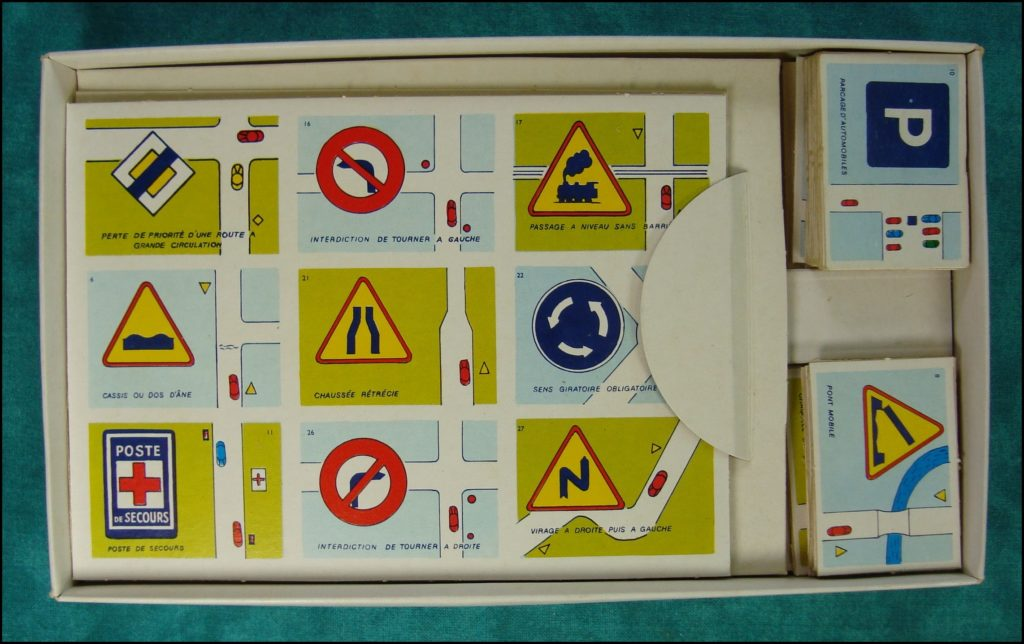 1960/65 - Loto Code de la route ; Willeb ; vintage car-themed board game ; ancien jeu de société automobile ; Antikes Brettspiel Thema Automobil Autospiel ;