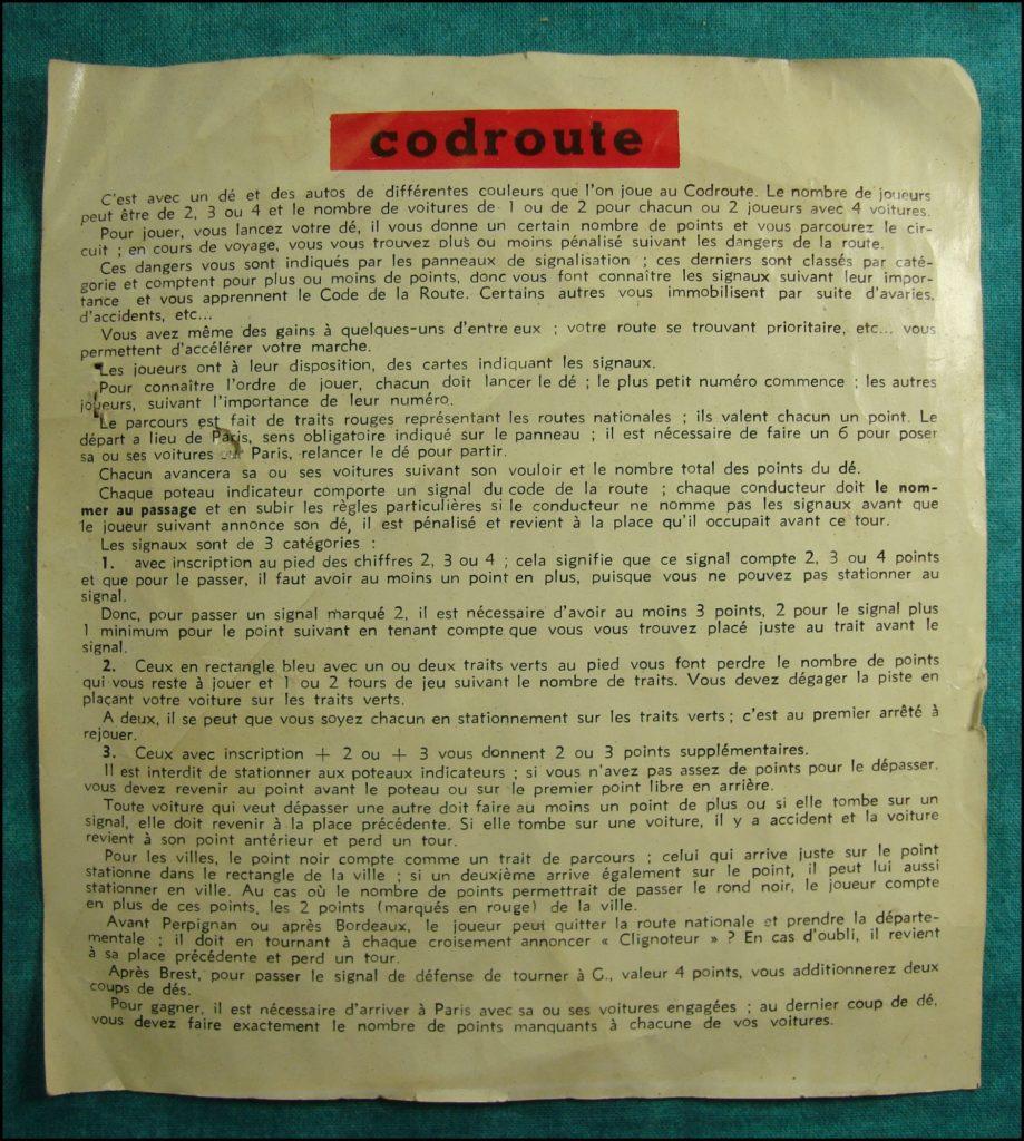 1960/65 ; Codoroute ; Jeu Jura ; Citroën DS ; vintage car-themed board game ; ancien jeu de société automobile ; Antikes Brettspiel Thema Automobil Autospiel ;