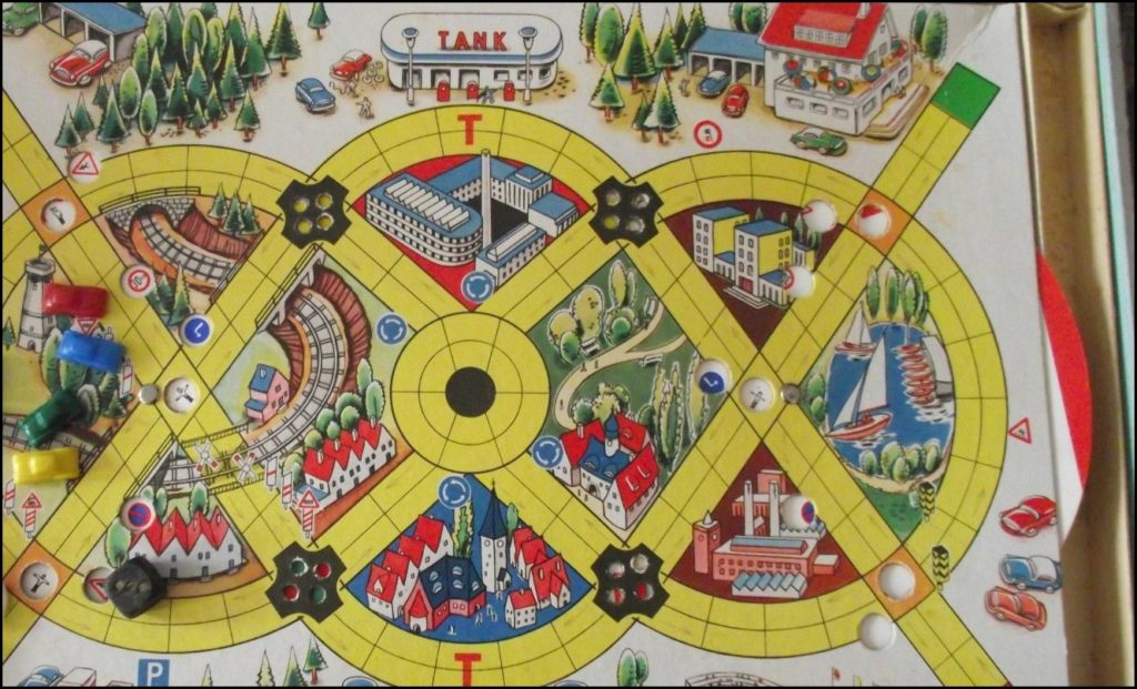 Brettspiel ; Board game ; Jeu de société ;  1960 - Gute fahrt