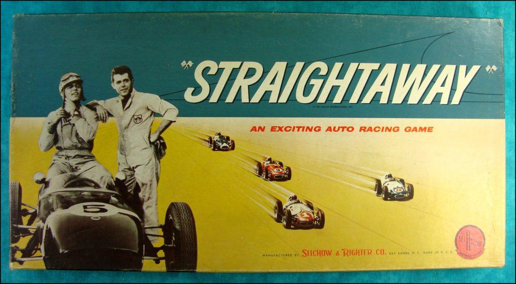 Brettspiel ; Board game ; Jeu de société ; Selchow & Righter ; 1961 ; Straightaway
