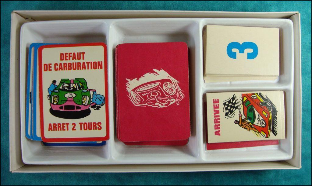 1961 - Les 24 Heures ;  Mikado ;  vintage car-themed board game ; ancien jeu de société automobile ; Antikes Brettspiel Thema Automobil Autospiel ;