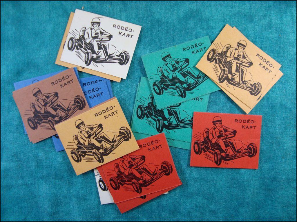 1962 - Rodéo-Kart ; Dujardin ; vintage car-themed board game ; ancien jeu de société automobile ; Antikes Brettspiel Thema Automobil Autospiel ;