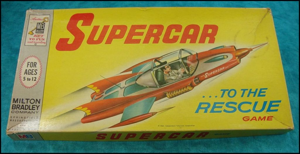 Brettspiel ; Board game ; Jeu de société ; 1962 ; Supercar... to the rescue ; Supercar to the rescue ; Milton Bradley ; MB ;