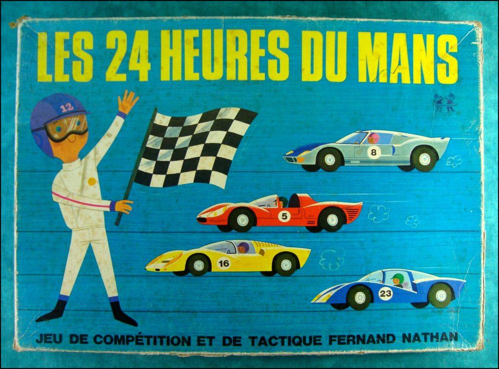 1965/70 - Les 24 heures du Mans ; Nathan ; Ford GT 40 ; vintage car-themed board game ; ancien jeu de société automobile ; Antikes Brettspiel Thema Automobil Autospiel ;