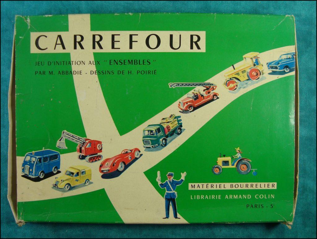 Bourrelier ; Carrefour ; Norev ; Dinky Toys ; Peugeot D4B ; 2 ch ; pompiers Hotchkiss ; Peugeot 404 ; Berliet GAK ; vintage car-themed board game ; ancien jeu de société automobile ; Antikes Brettspiel Thema Automobil Autospiel ;