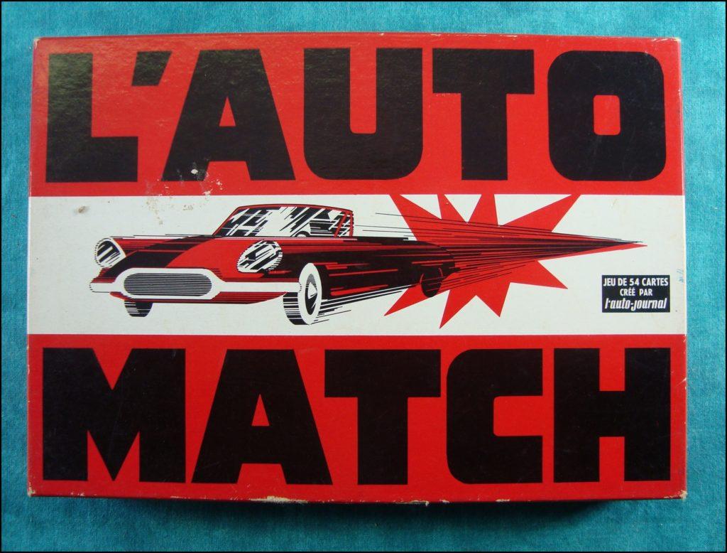 1965 - L'auto Match ; La Ducale ; cover ; vintage car-themed board game ; ancien jeu de société automobile ; Antikes Brettspiel Thema Automobil Autospiel ;
