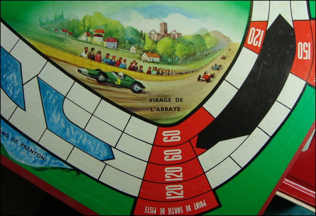 1961 - Formule 1 ; Miro Company ; Antar ; Englebert ;  vintage car-themed board game ; ancien jeu de société automobile ; Antikes Brettspiel Thema Automobil Autospiel ;