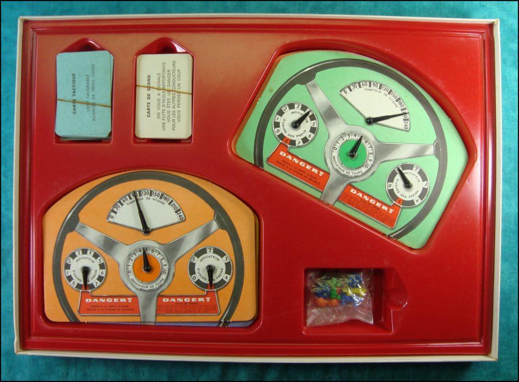1966 - Formule 1 ; Miro Company ; Antar ; Englebert ; vintage car-themed board game ; ancien jeu de société automobile ; Antikes Brettspiel Thema Automobil Autospiel ;