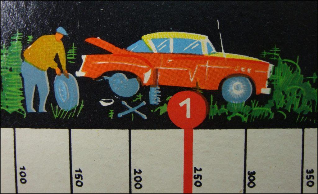 Brettspiel ; Board game ; Jeu de société ;  1966 ; Autorennen wie noch nie ; Hugo Gräfe ; Skoda Felicia 1959/1964