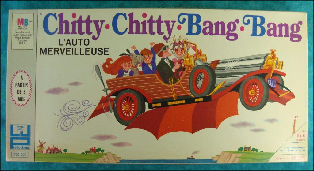 Brettspiel ; Board game ; Jeu de société ; 1968 ; Chitty Chitty Bang Bang ; Milton Bradley ; MB ;