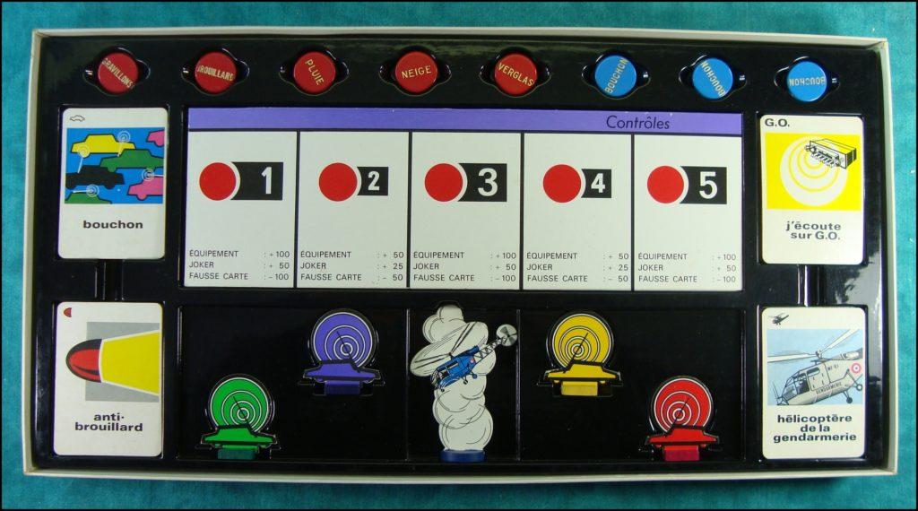 1968 - Radio Guidage ; Miro ; Citroën DS ; Ford Thunderbird ; T-Bird ; Chevrolet Corvette ;  vintage car-themed board game ; ancien jeu de société automobile ; Antikes Brettspiel Thema Automobil Autospiel ;