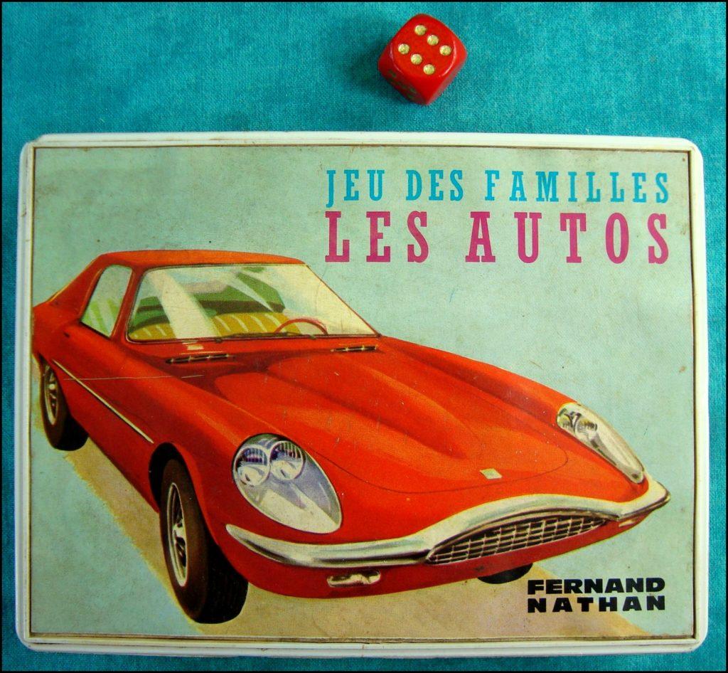 1968 - Les Autos, 7 familles ; Nathan ; vintage car-themed board game ; ancien jeu de société automobile ; Antikes Brettspiel Thema Automobil Autospiel ;