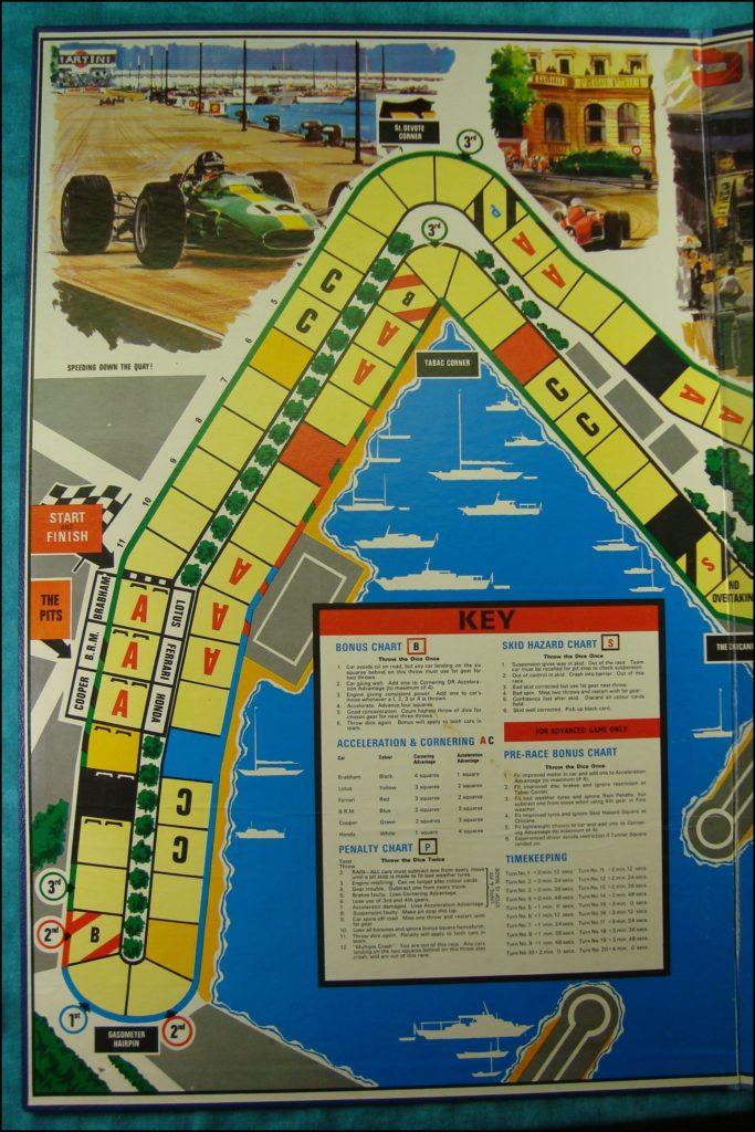 Brettspiel ; Board game ; Jeu de société ; 1968 ;  Monaco Grand Prix ; Triang
