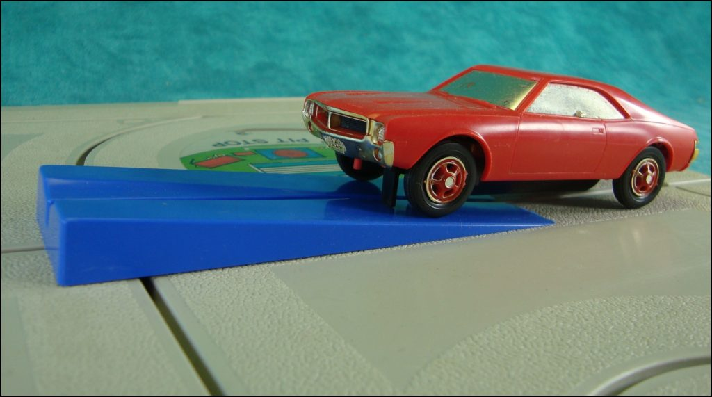 Brettspiel ; Board game ; Jeu de société ; Republic Tool ; slot cars ; 1969 ; Javelin Trans-Am Racing ;