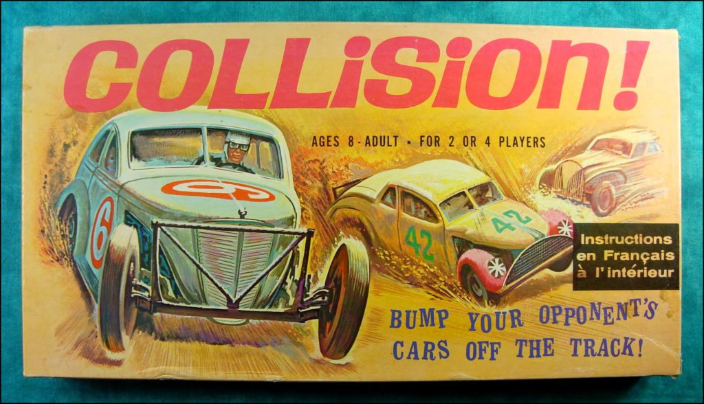 Brettspiel ; Board game ; Jeu de société ; Whitman ; 1969 - Collision ; 1948 Studebaker Commander Starlight ;