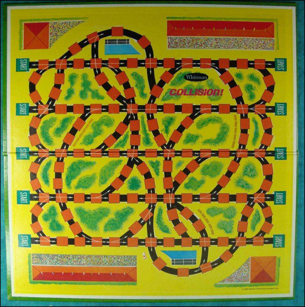 Brettspiel ; Board game ; Jeu de société ; Whitman ; 1969 - Collision ; 1948 Studebaker Commander Starlight ;